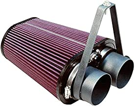 S&B Filters 75-2503 Cold Air Intake For 1988-1995 Ford F-150 / F-250 / F-350, Bronco 4.9L / 5.0L / 5.8L / 7.5L (Oiled Cleanable, 8-ply Cotton Filter)