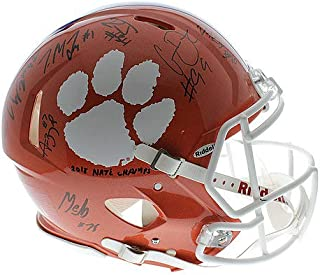 Clemson Tigers 2018 Natl. Champions Autographed Signed Ridell Full Size Speed Authentic Helmet (Christian Wilkins, Dexter Lawrence, Clelin Ferrell, Austin Bryant, Trayvon Mullen And More) - JSA