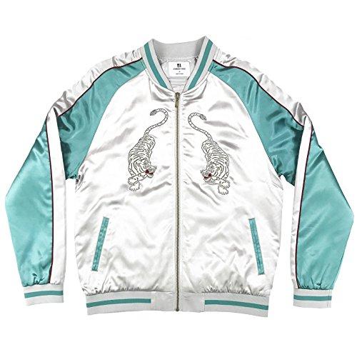 Unisex Silver/Mint New Tiger Souvenir Jacket