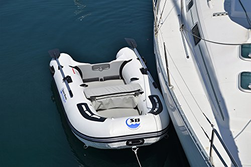 Inflatable Sport Boats Dolphin 8.8' - Model SB-270A - 2021 Model - Air Deck Floor Premium Heat Welded Dinghy with Seat Bag