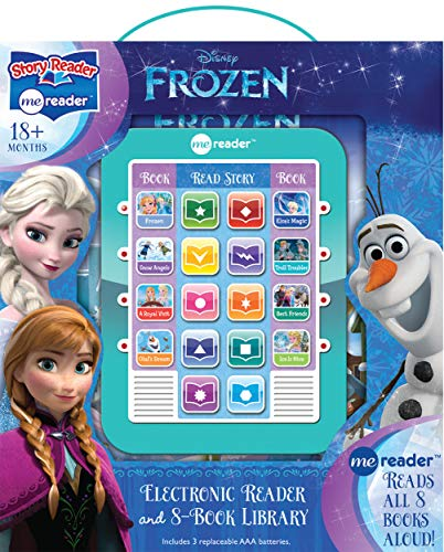 Disney Frozen Elsa, Anna, Olaf, and More! - Me Reader Electronic Reader and 8-Sound Book Library - PI Kids