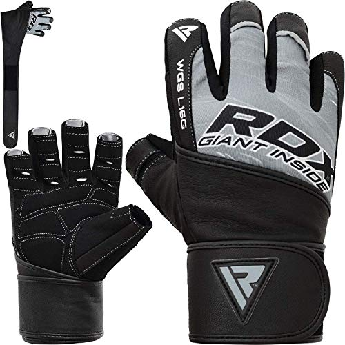 RDX Fitness Handschuhe Trainingshandschuhe mit Handgelenkstütze Sporthandschuhe Gewichtheben Bodybuilding Workout Krafttraining Gym Gloves (MEHRWEG)