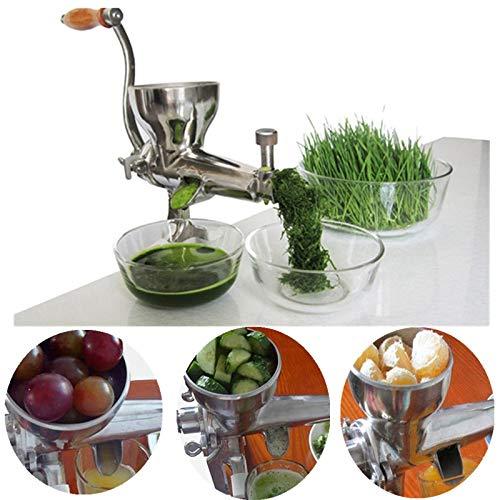 Weizen-Gras-Entsafter aus Edelstahl, multifunktional, manuell, für langsame Saftpresse, Obst, Gemüse, Zitronen