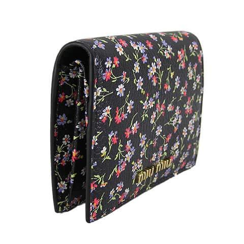 ミュウミュウMIUMIUレディース2つ折財布サイフ5MV2042D52F0002NERO20ss(NERO)[並行輸入品]