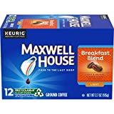 Maxwell House Breakfast Blend Keurig K-Cup Coffee Pods (72 Count, 6 Boxes of 12)