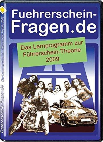 Führerschein-Fragen.de 2009: Das Lernprogramm zur Führerschein-Theorie: Das Lernprogramm zur Führerscheinfragen-Theorie. Lernprogramm auf CD-Rom für Windows 98, NT, 2000, XP und Vista