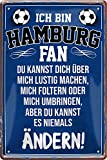Tin Sign Blechschild 20x30 cm ich Bin Hamburg Fan Fun Spruch Hansestadt Bar Kneipe Haus + Garten Sammler Geschenk