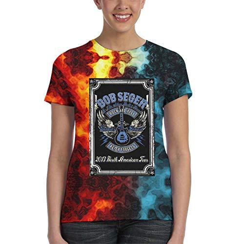 CHENYINJJ BO-B Se-Ger Damen T-Shirt Bedrucktes T-Shirt Jugend T-Shirts 3D Kurzarm Outfit Geschenke für Mädchen