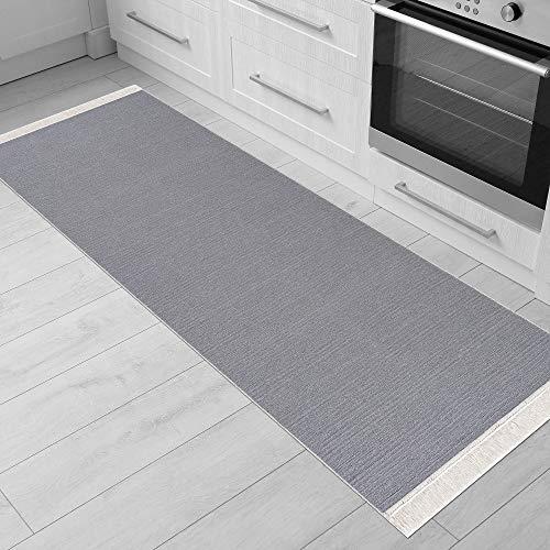 Fashion4Home - Tappeto passatoia per soggiorno, camera da letto, cucina, cameretta dei bambini, bagno, stile Boho Kelim – Passatoia per corridoio, grigio chiaro, dimensioni: 60 x 180 cm