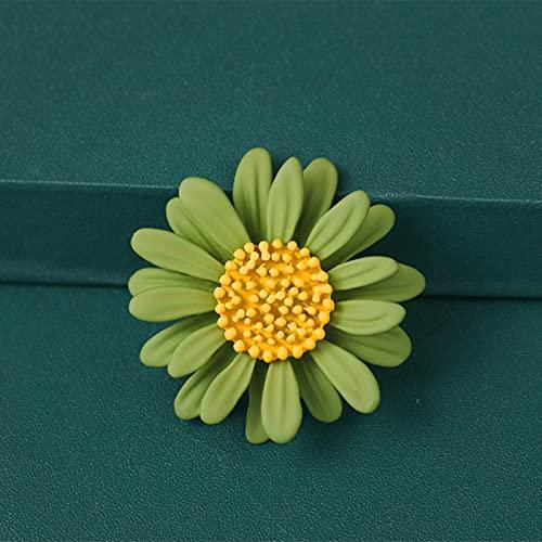 SPACELQ 2020 Nuevo Elegante Vintage Metal Plant Flowers Daisy Broche para Mujeres y Hombre Accesorios de Cuello Pareja Regalos de joyería