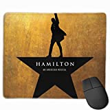 TRPOUIJD Hamilton Drama Mouse Pad Rectangle Rubber Anime Mouse Pad Gaming Mouse Pad 12x9.8 Inch(30x25 cm)