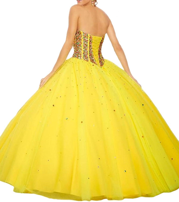 HSDJ Bridal Light bluee Stunning Crystal Ball Gown Quinceanera Sweet 16 Dress