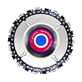 4 Inch Grinder Wood Carving Chain Disc & 4.5 Inch Angle Grinder Disc Chain Saw Plate 22 Tooth, 5/8' Center Hole for Shaping Cutting & Engraving of Wood, Plastic, Ice & Hard Rubber