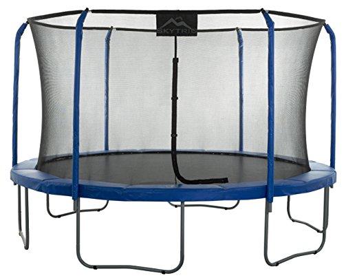 SKYTRIC Trampolín Cama Elástica 4.0 m - Sistema Recinto Anillo Superior. Función Ensamblaje Fácil