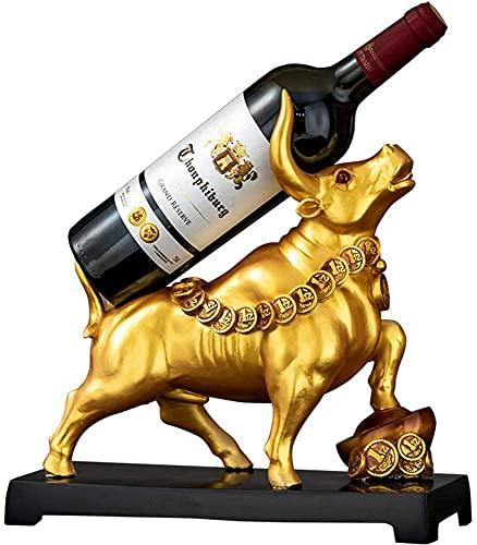 TAIDENG Taurus Wine Rack Adornos, Botella de Vino de Resina Elegante Rack para Bar Home Bar Tabla de Mesa Top Decoración (Color : 2)