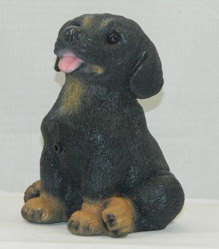 Rottweiler 21 cm 88060 Kunststoff-Figur mit Bewegungsmelder