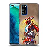 Head Case Designs Officially Licensed Stanley Morrison Mushroom Garden Dragons 3 Soft Gel Case Compatible with Honor V30 Pro/View 30 Pro