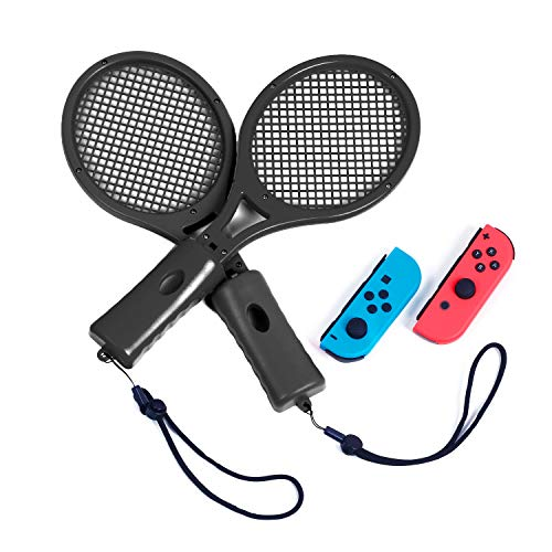 Tennis Racket for Switch Mario Tennis Aces, Tennis Racket for Switch Controller (Black)