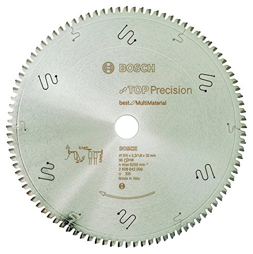 Bosch 2 608 642 099 - Hoja de sierra circular Top Precision Best for Multi Material - 305 x 30 x 2,3 mm, 96 (pack de 1)