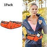 WENTS Sport Hüfttasche Gürteltasche Hüfttasche Bauchtasche für Trinkflasche Sports Trinkgürtel Waistpacks für Outdoors Fitness Ausgeführt Radfahren Wandern Walking (Orange)