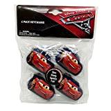 HER Accessories (1) Pack Disney Pixar Cars Keychains - Car Shaped with Lightning McQueen design - Slow Rising, Squishy Fun Stress Ball/Toy - Navy Blue Color - 4 Pieces per Pack 2.5' x 1.5' each