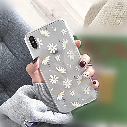 Funda Transparente para teléfono Love Heart Daisy Flowers para iPhone 11 6 6s 7 8 Plus 11 Pro XS MAX XR X Fundas traseras de Silicona Suave, C, para iPhone 11Pro MAX