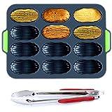 Teglia Mini Baguette, Teglia Da Forno Per Mini Baguette, 12 Fori Antiaderenti Per Padella Forata Stampo,stampo Per Cottura Di Pane,per Pane Per Cuocere Pane E Panini Francesi Vassoio Croccante