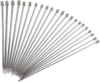 """YIQI Agujas de Tejer, Kit de Agujas de Tejer de Punta Simple de Acero Inoxidable de 14""""(36 cm), Que Incluye 2.0 mm 2.5 mm ..."""