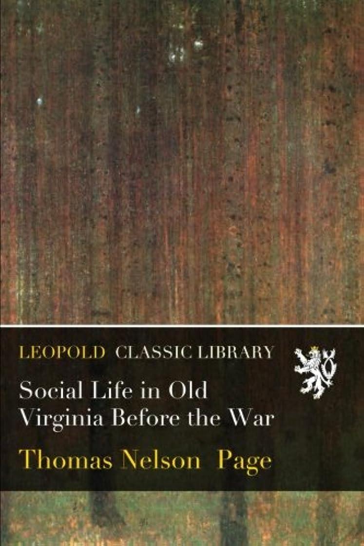 トリクル印象派隣接Social Life in Old Virginia Before the War