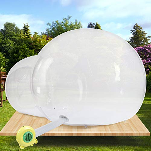 Inflatable Bubble Tent Transparent D-Ring Single Tunnel Bubble House Dome Greenhouse 2-3 People Tent for Camping w/Blower for Indoor/Outdoor Family Backyard Camping Festivals Stargazing