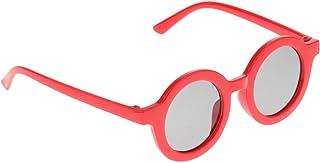 Hellery - Hellery 1 par de Gafas de Sol para niños niñas Bonitas Gafas Redondas clásicas protección UV400 Vacaciones de Verano al Aire Libre - Rojo
