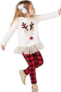 K-youth Conjunto Bebe Niña Navidad Baratas Bebe Niño Ropa Bebe Niña Invierno Navidad Manga Larga Recién Nacido Vestido Tut...