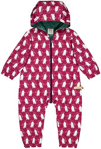 loud + proud Baby-Unisex Wasserabweisender Overall Aus Bio Baumwolle, GOTS Zertifiziert Schneeanzug, Rosa (Berry Ber), 80 (Herstellergröße: 74/80)