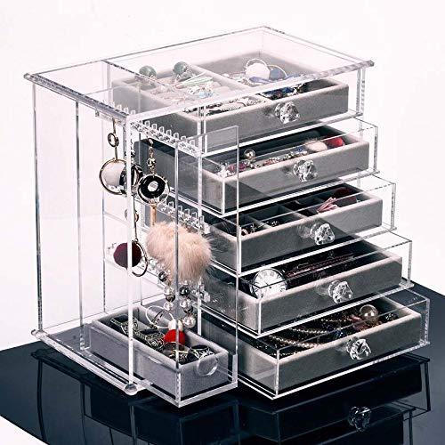 WJJH Boîte de Rangement de Bijoux, boîte de Rangement de tiroir en Acrylique Transparent de Haute qualité pour Bijoux,1