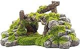 ZFQZKK Resina Acuario Vista a la montaña Ornamento de piedra, Tanque de pescado Paisaje Paisaje Aquarium escondite piedra ornamento de agua dulce con roca cueva musgo planta acuática for tanque pequeñ