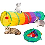 Cat Tunnel for Indoor Cats Tube Tunnel Toy Collapsible 2 Way Cat Tunnel for Kitten Toys
