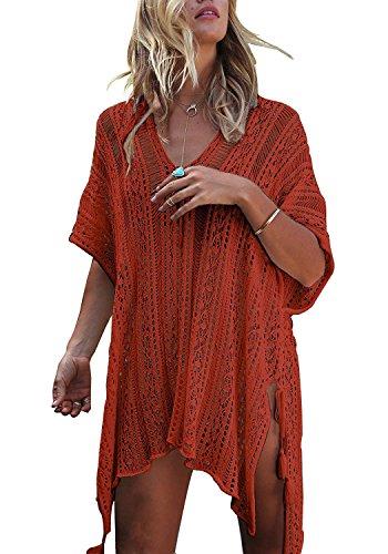 HARHAY Women's Summer Swimsuit Bikini Beach Swimwear Cover up Caramel