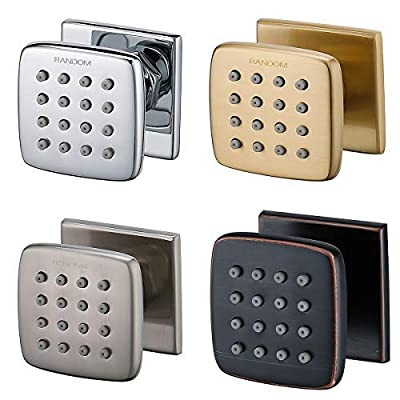 RANDOM Shower Spa Brass Square Massage Body Jets Spray Body Shower Set,Brushed Nickel,Chrome,Oil Rubbed Bronze,Brushed Gold.