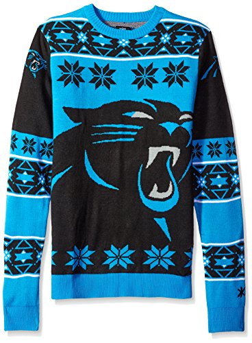 Klew NFL Big Logo Pullover, Unisex, Carolina Panthers