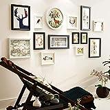 KINGXX-03 Marcos de Fotos Photo Wall Frame Photo Gallery Frame Set de Pared con Ilustraciones utilizables y Familia - Blanco