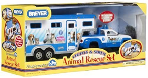 Breyer 1 32 Scale Stablemates Animal Rescue Truck and Trailer by Breyer