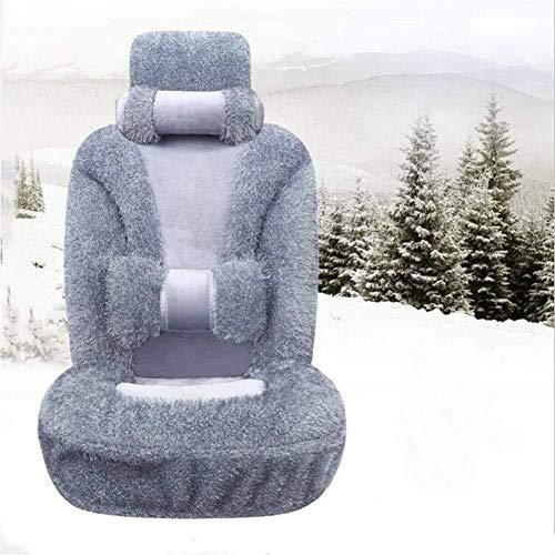 Preisvergleich Produktbild Winter Auto-Sitzkissen - Marathon Plüsch warme und bequeme Auto-Sitzabdeckung,  geeignet for die meisten Fünfsitzer Autos (Color : Gray)