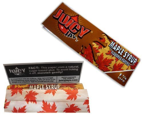 Juicy Jays Maple Syrup Flavored Rolling Papers 1 1/4 - 3 Pack