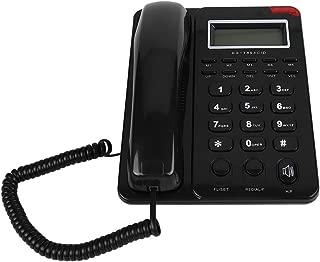 Schnurgebundenes Festnetztelefon,Desktop Freisprechfunktion//Blitzlicht//Anrufer ID Anzeige//Wahlwiederholung der letzten Nummer Kabelge bundenesFestnetztelefon mit Diktierger/ät,f/ür Zuhause//Hotel//B/üro