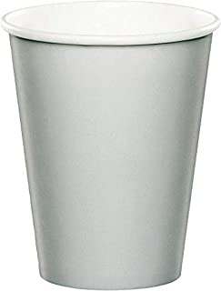 اكواب ورقية للمشروبات الساخنة والباردة 8 قطع من كرياتيف كونفيرتينغ، سعة 266 مل لون فضي لامع
