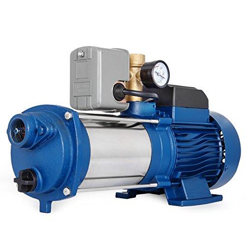 HODOY Pompa da Giardino MC-1800 Pompa centrifuga 150L/min Pompa Autoclave (MC-1800 con Controllo)