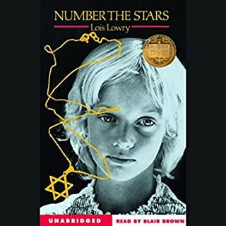 Number the Stars                   Written by:                                                                                                                                 Lois Lowry                               Narrated by:                                                                                                                                 Blair Brown                      Length: 2 hrs and 45 mins     11 ratings     Overall 4.6