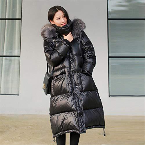 AAJIA Chaqueta de Plumas Invierno Mujer Down Coats Jackets Female Long White Duck Down Coat,Gray...