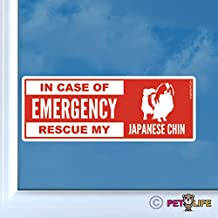 Mister Petlife in Case of Emergency Rescue My Japanese Chin Sticker Vinyl Auto Window Dog Safety