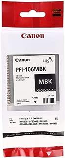 Canon PFI-106MBK 6620B001AA ImagePrograf iPF6400 6450 130 ML Ink Catridge (Matte Black) in Retail Packaging